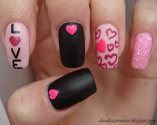 The following are some executioner Valentine's Day nail art design ideas: - Cute And Cool Valentine's Day Nail Art Design Ideas – Your Beauty